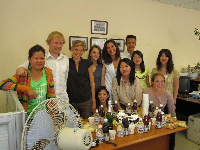 A Projects Abroad group during their Law internships in Mongolia.